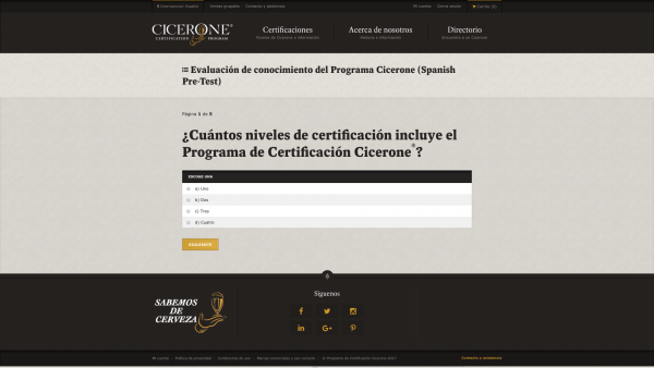 certified beer server - first level cicerone certification